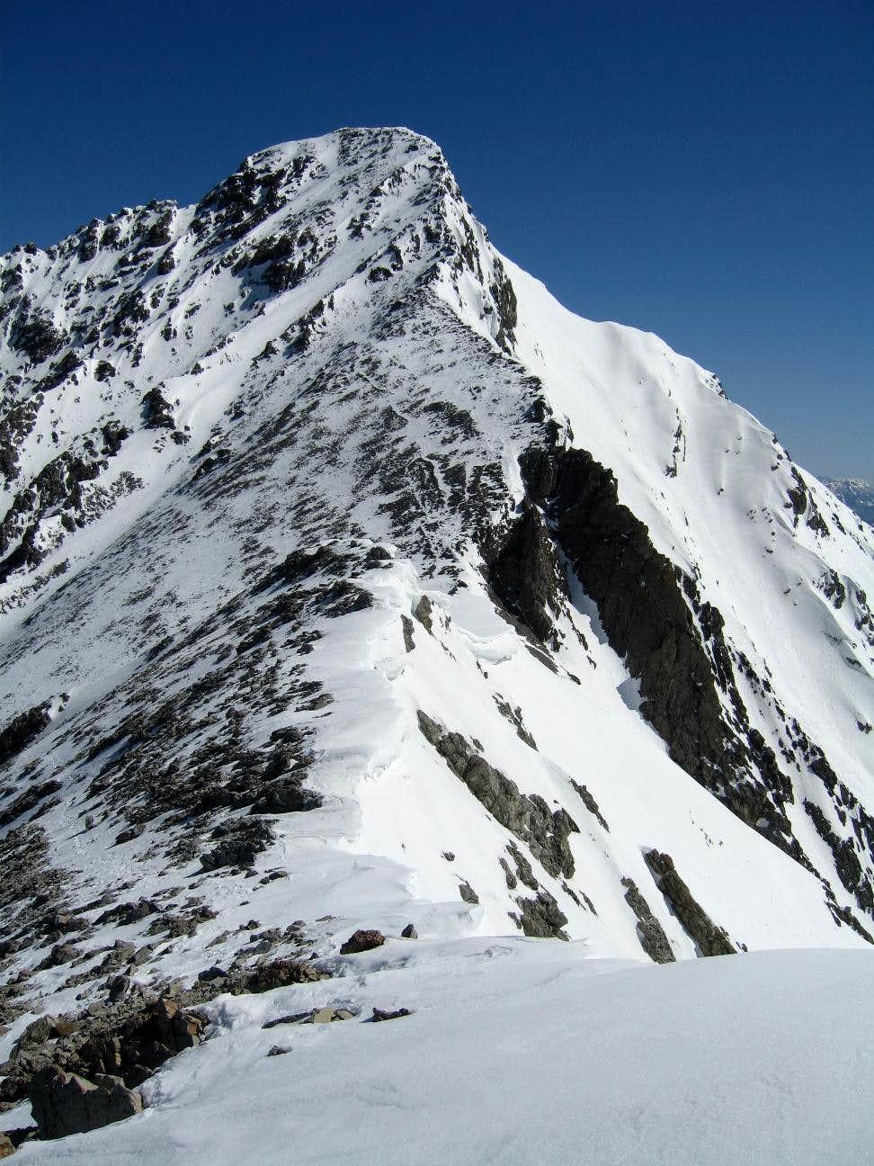southwest ridge near summit
