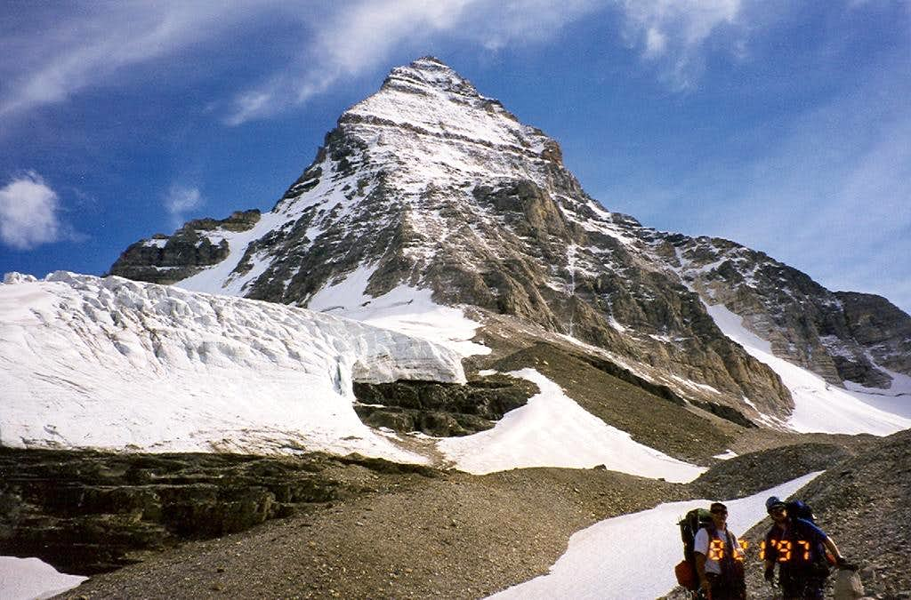Assiniboine from below the Hind hut.