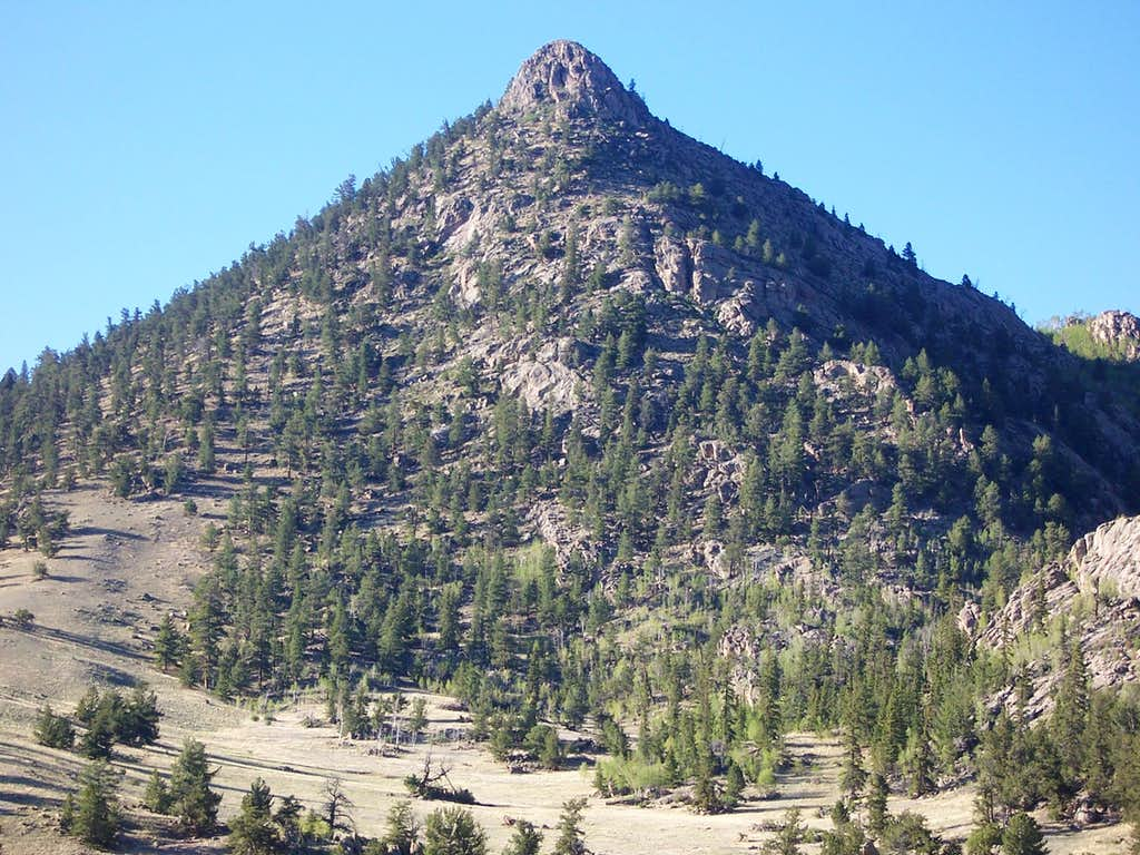 Sugarloaf D from the Southeast in the Sun