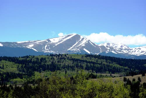 Mt. Silverheels from the East