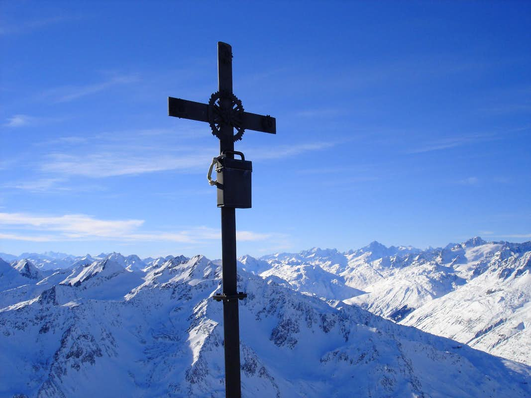 Summit cross Piz Badus 2928m