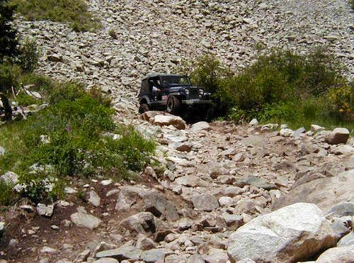 The old 4x4 road up to Lake...