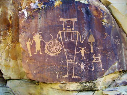 Petroglyphs near Rainbow Park