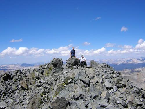 The summit of Mt. Maclure on...