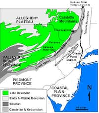 Kittatinny Mountain Map