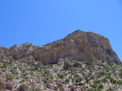 The southwestern face