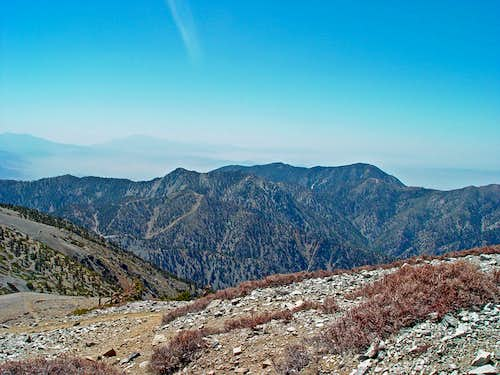 View east from Mount Baldy