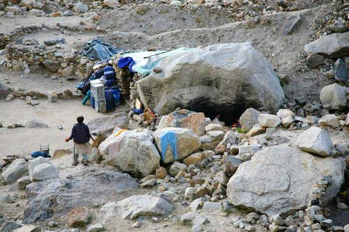 Porters Shelter at Baltoro Glacier