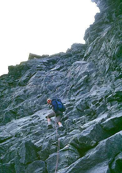 Matterhorn, Hörnligrat, Lower Moseley Slab
