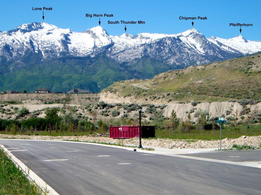 A few of the Peaks in the Lone Peak Wilderness (Utah)