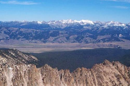 Looking across the Sawtooth...
