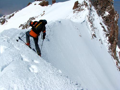 Erciyes-skiing the North Face