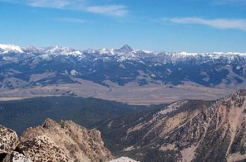 Castle Peak from Mount Cramer...