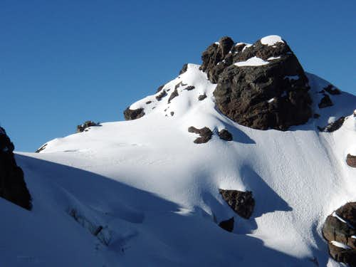 Left side of Blanca showing the normal route