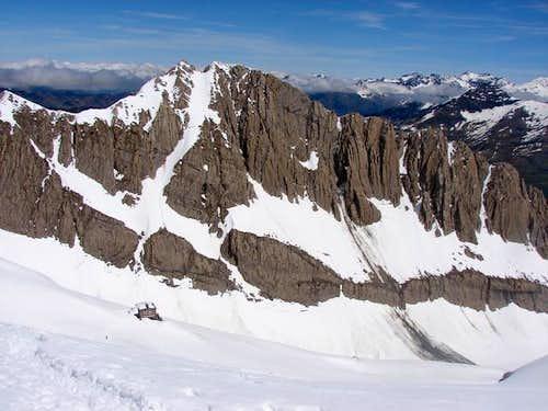 Refuge and peak of Sarradets