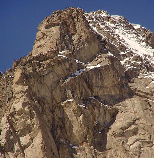 East face of Grandes Jorasses - the upper half
