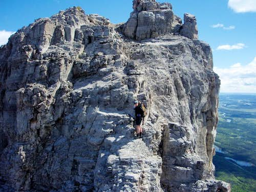 Yamnuska Traverse - alternate route