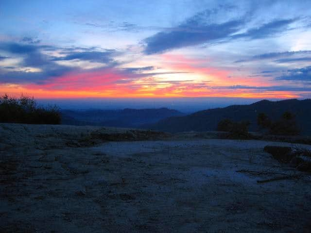 Sunset from Hang Glider Slab....