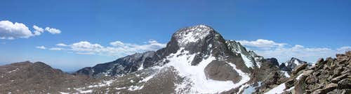 Panorama of Longs Peak from Storm Peak