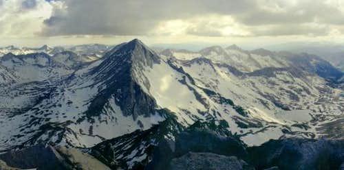 Mt Gabb viewed from summit of...