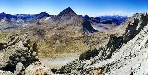 Mt Gabb (center) seen from...