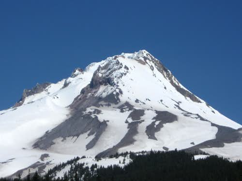 Sw face of Mt. Hood
