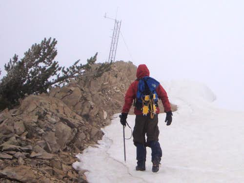 Approaching the North Most Peak On Cascade Mtn (Utah)