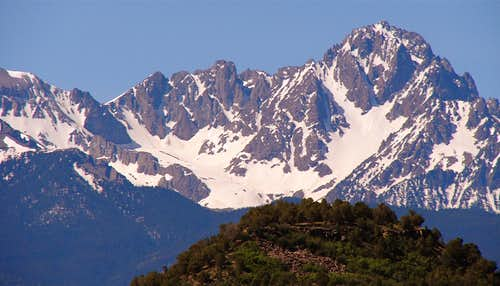 Mount Sneffels from Ridgway SP