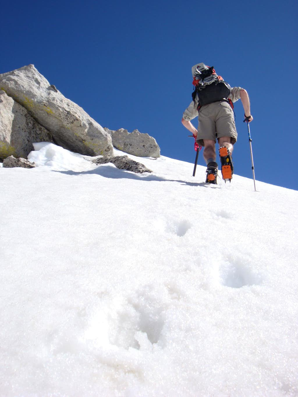 Kicking Steps to the Peak