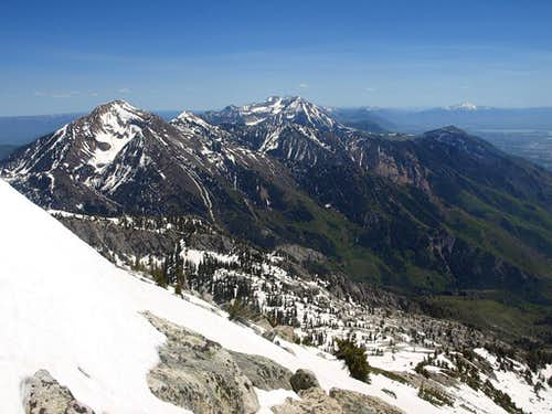 looking southwest from Bighorn Peak