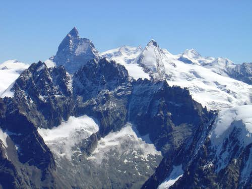 Matterhorn and Dent d\'Hérens