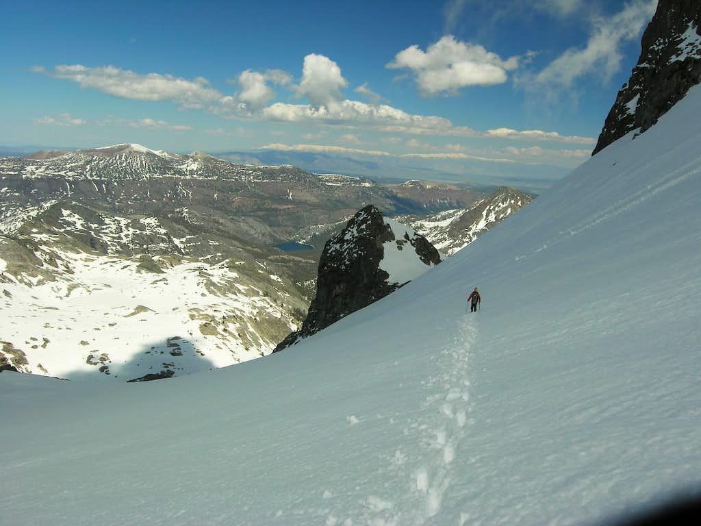 Traverse of SE Glacier on Descent