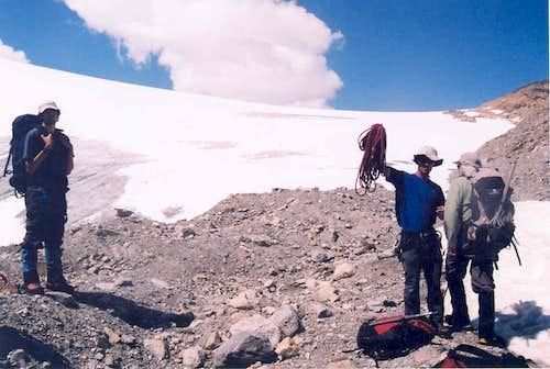 The toe of the Bow Glacier