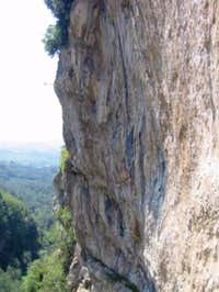 Arco - the steep cliffs of...