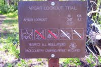 Apgar Lookout Trailhead Sign