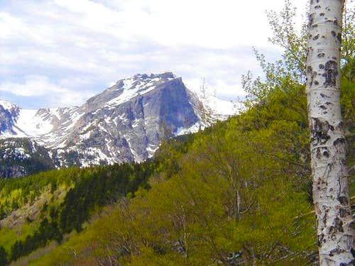 Hallett Peak as seen from the...