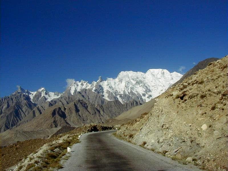 Karakoram Highway Near Hunza Valley, Northern Areas of Pakistan