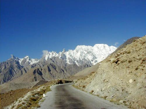 Karakoram Highway Near Hunza Valley, Northern Areas of Pakistan