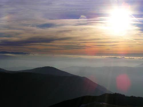 Sunset on Rosinj peak, Vranica