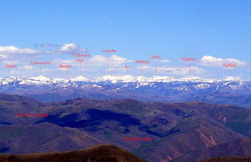 Peaks of High Uintas as seen from Lookout Pk