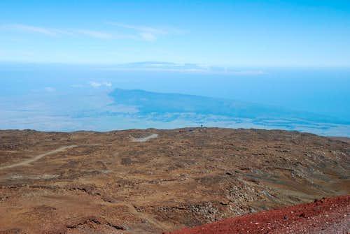 Kohala & Haleakala fr Mauna Kea