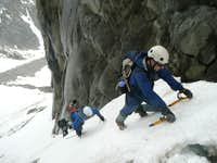 Approaching the ice cliff