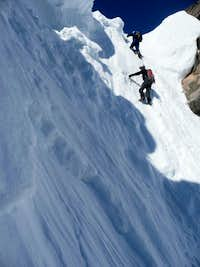 Exiting the couloir