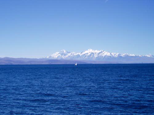 Ancohuma and Illampu from Lago Titicaca