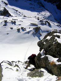 Tom on ascent fo Tom on ascent of Aragüells
