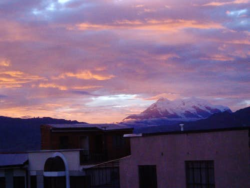 Sunset Illimani - from my former living room