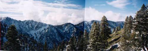 The Yucaipa Ridge from high...