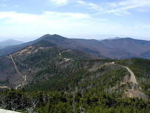 Mt. Mitchell View - April, 2002