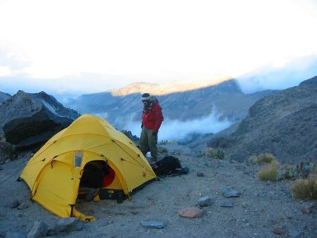 Our camp outside the Piedra...