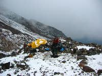 High camp at 15,700 ft. just...